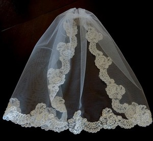 Other First Holy Communion Veil White Pearl And Lace Trim