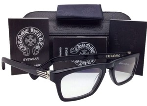 Chrome Hearts New CHROME HEARTS Eyeglasses JUST THE TIP MBK 52-19 Black Frame w/ Sterling Silver