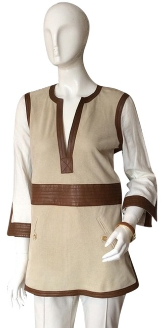 Preload https://img-static.tradesy.com/item/868872/tory-burch-beige-suede-leather-florence-tunic-size-4-s-0-0-650-650.jpg