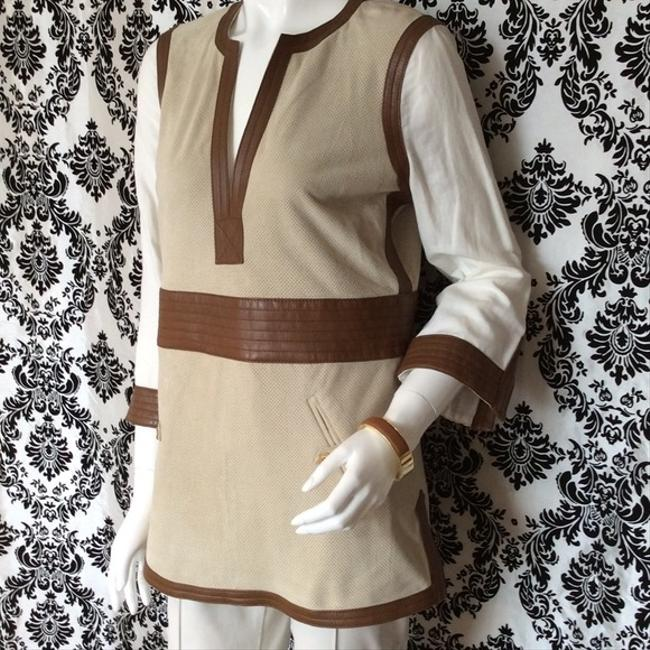 Tory Burch Suede Leather Florence Tunic Image 1