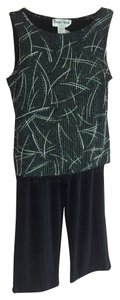 Ronnie Nicole by Ouida Festive Sparkles Top Black and silver