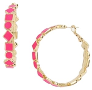 Kate Spade NWT-FAST FREE SHIPPING pink 14k gold filled hoop earrings ORIG. $68