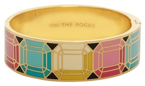 Kate Spade Colorful Faceted Gems Kate Spade On the Rocks Bangle Bracelet NWT Whimsical & Artistic Play on Ice & Gems!