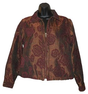 Coldwater Creek Zipper Iridescent Rust and burgundy Jacket