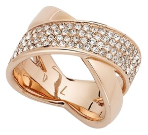 Michael Kors Michael Kors Clear Pave Crisscross Band Ring Size : 7 (come with dust bag)