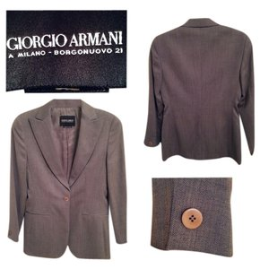 Giorgio Armani 100% New Wool Grey Blazer