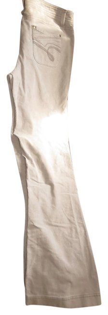 Social Occasions Metallic Hardware Flare Leg Jeans-Light Wash