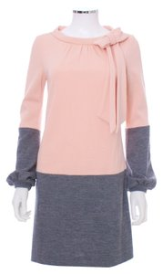 MILLY short dress Pink and Grey Designer New York Two-tone Wool Shift on Tradesy
