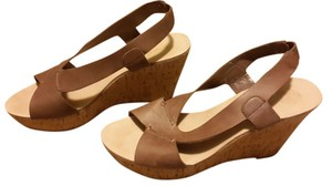 Nine West Cork Wedge Brown Wedges