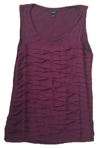 Ann Taylor Top Burgundy; Wine; Maroon