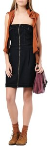 Levi's short dress Black Denim Stretchy Strapless Mini on Tradesy
