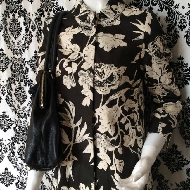 Joe Fresh Floral Black and Cream Jacket