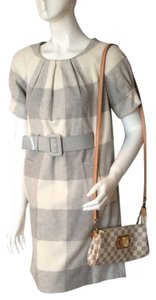 Michael Kors short dress Grey and Cream Checkered Belted on Tradesy