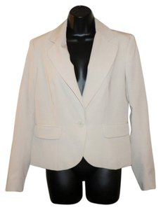 Pierre Cardin Button Lined Faux Pockets Tan Blazer