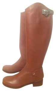Salvatore Ferragamo Italian Leather Riding Boot Tan Boots