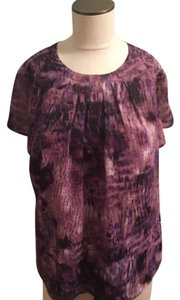 JonesWear Top Purple Mixed Color