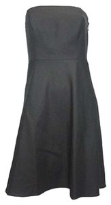 Ann Taylor Black Strapless Petite Dress