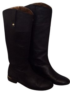 Cynthia Vincent Knee Leather Black Boots