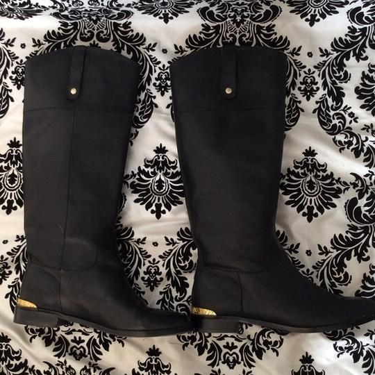 Twelfth St. by Cynthia Vincent Knee Leather Black Boots