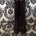 Cynthia Vincent Knee Leather Black Boots Image 2