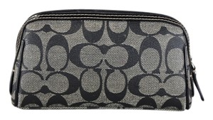 Coach Zip Around Monogram Cosmetic Pouch