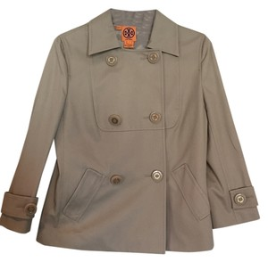 Tory Burch Khaki Peacoat Beige Jacket