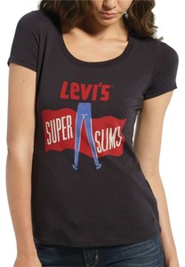 Levi's Super Slims Graphic T Shirt Black