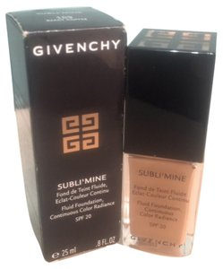 Givenchy Subli'mine fluid foundation continius color radiance SPF 20 by Givenchy 25 ml / 8 oz ( 109 exact coffee ) New , box has some signs of shelving !!!!