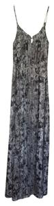 Black, White and Grey Maxi Dress by Theory Maxi Musea Metallic Silk