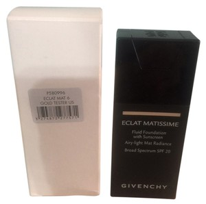 Givenchy GIVENCHY ECLAT MATISSIME Fluid foundation With Sunscreen Airy-Light Mat Radiance Broad Spectrum SPF 20 , ( 06 MAT GOLD ) TESTER !!!!