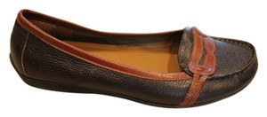 Alex Marie Leather Brown Flats
