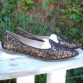 Belle by Sigerson Morrison Leather Black with Gold Flats Image 0