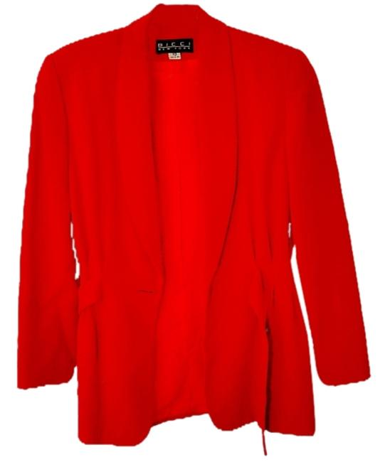 Item - Red Like-new Festive Classic Classy Pant Suit Size 10 (M)
