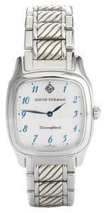 David Yurman David Yurman Sterling Silver & Stainless Steel Thoroughbred Watch