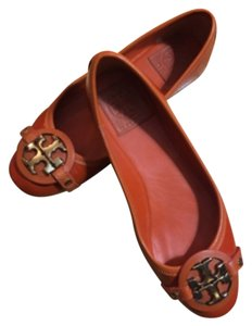 Tory Burch Tiger Lilly Orange Flats