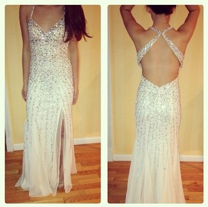 Sean Collection Sexy Backless Prom Dress