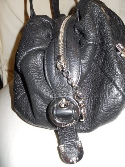 Bebe Leather Hobo Bag Image 5
