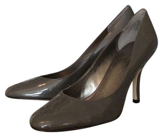 Anne Klein Patent Grey Pumps