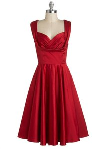 Trashy Diva Vintage Retro Tea-length Ruching Dress