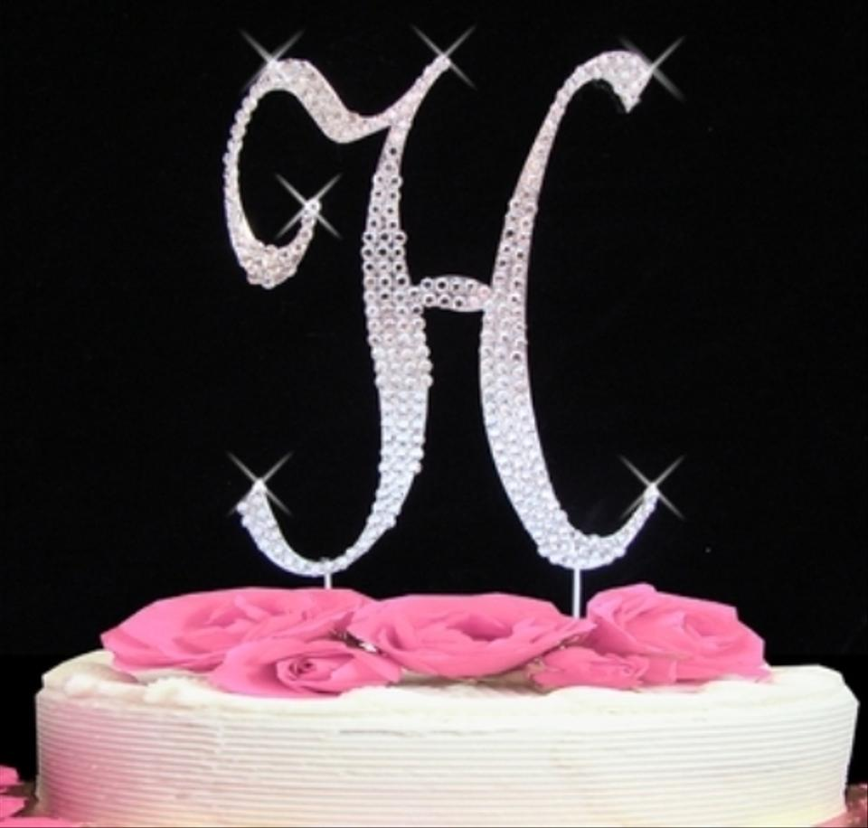 letter h wedding cake topper click to zoom 16834