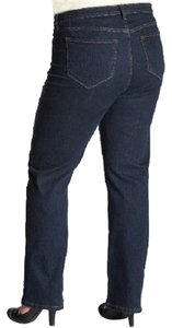 NYDJ Not Your Daughters Straight Leg Jeans-Dark Rinse