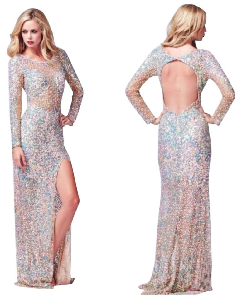 d653fa76903 Mac Duggal Couture Nude Pastel 3908 Long Formal Dress Size 6 (S ...