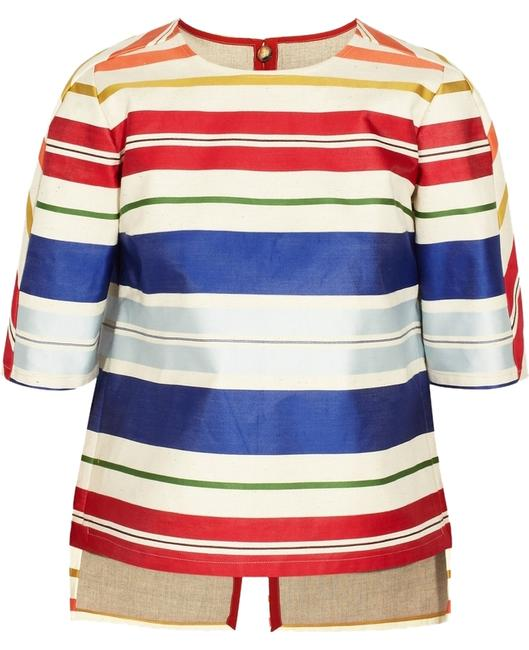 Stella McCartney Twill Top Striped