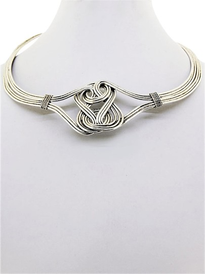 Other N424 silver knot choker