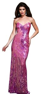 Mac Duggal 3988 Designer Evening Gown Nude Pastel Sequels Prom Size 6 Dress