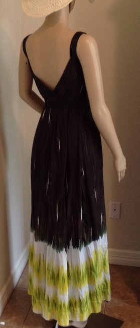 Brown and lime green Maxi Dress by Calvin Klein Image 4