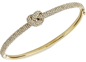 Michael Kors Nwt Michael Kors Brilliance Knot Pave Gold Tone Bangle Bracelet