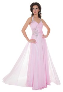Mac Duggal 4939M Designer Evening Gown Nude Pastel Sequels Prom Size 8 Dress