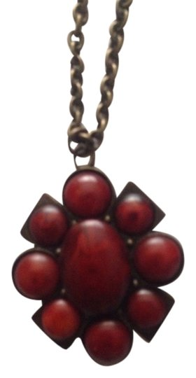 Not Rated Rust Color Stone Necklace