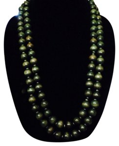 Not Rated Green Wooden Beaded Necklace